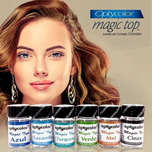 Lentes de contato colorida Magic Top - Sem grau
