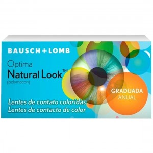 Lente de contato colorida Natural Look - Com grau